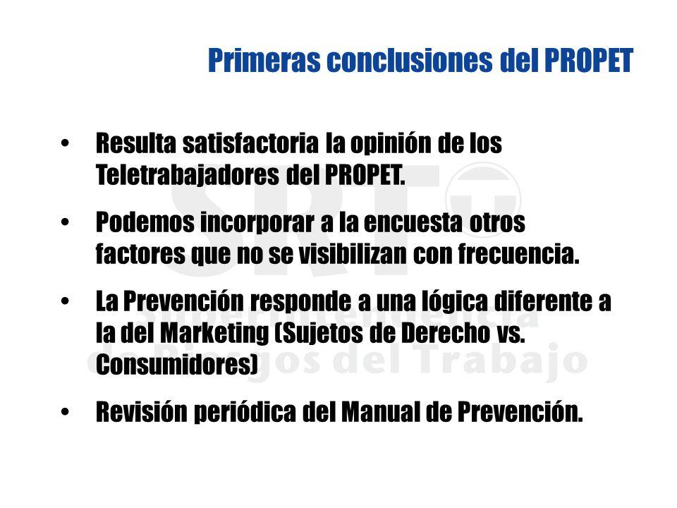 Primeras conclusiones del PROPET