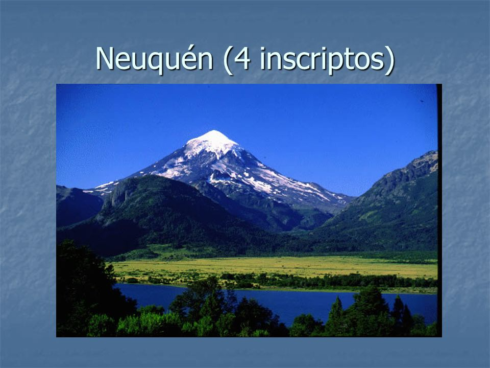 Neuquén (4 inscriptos)