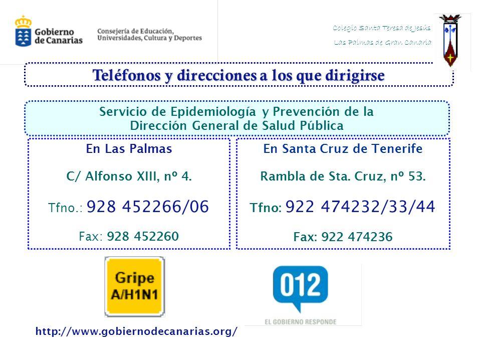 Teléfonos y direcciones a los que dirigirse