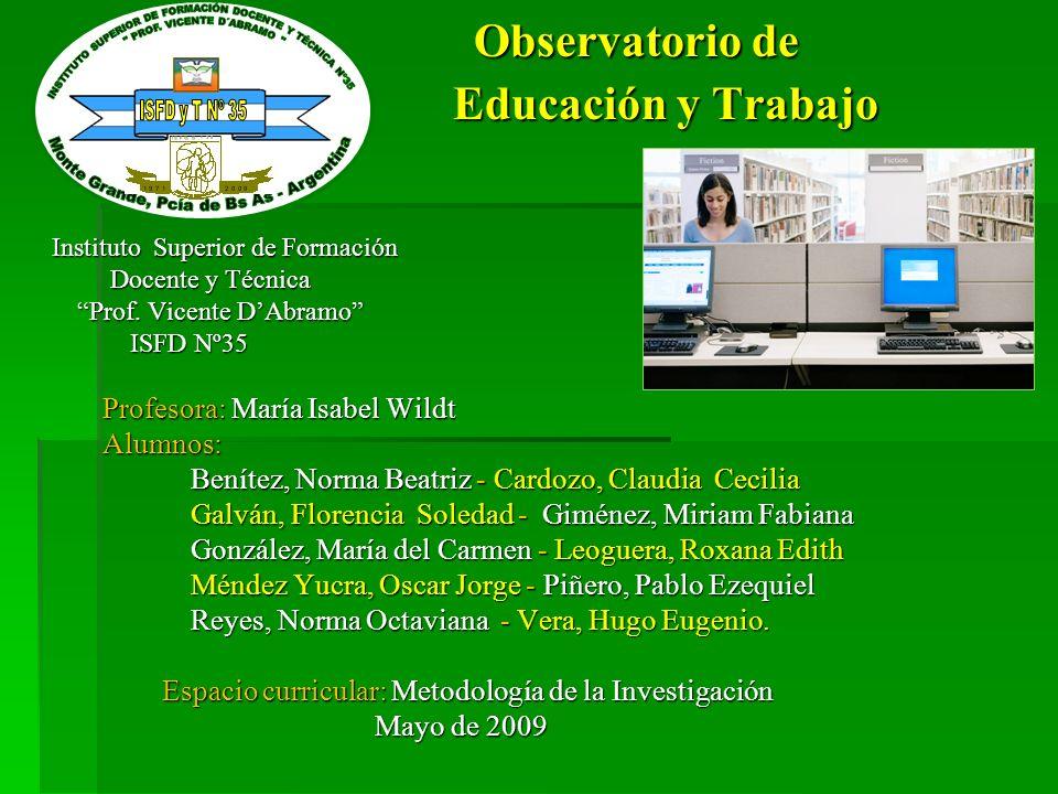 Observatorio de Educación y Trabajo
