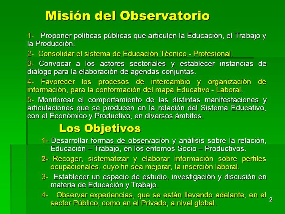 Misión del Observatorio