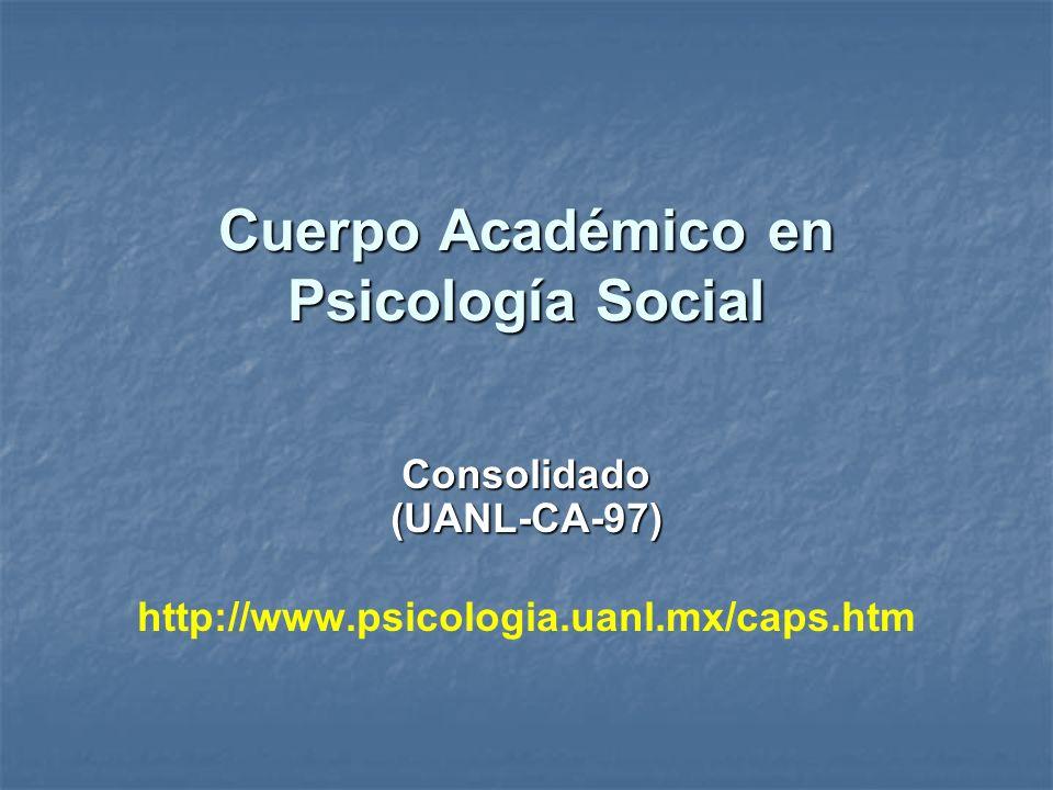Cuerpo Académico en Psicología Social