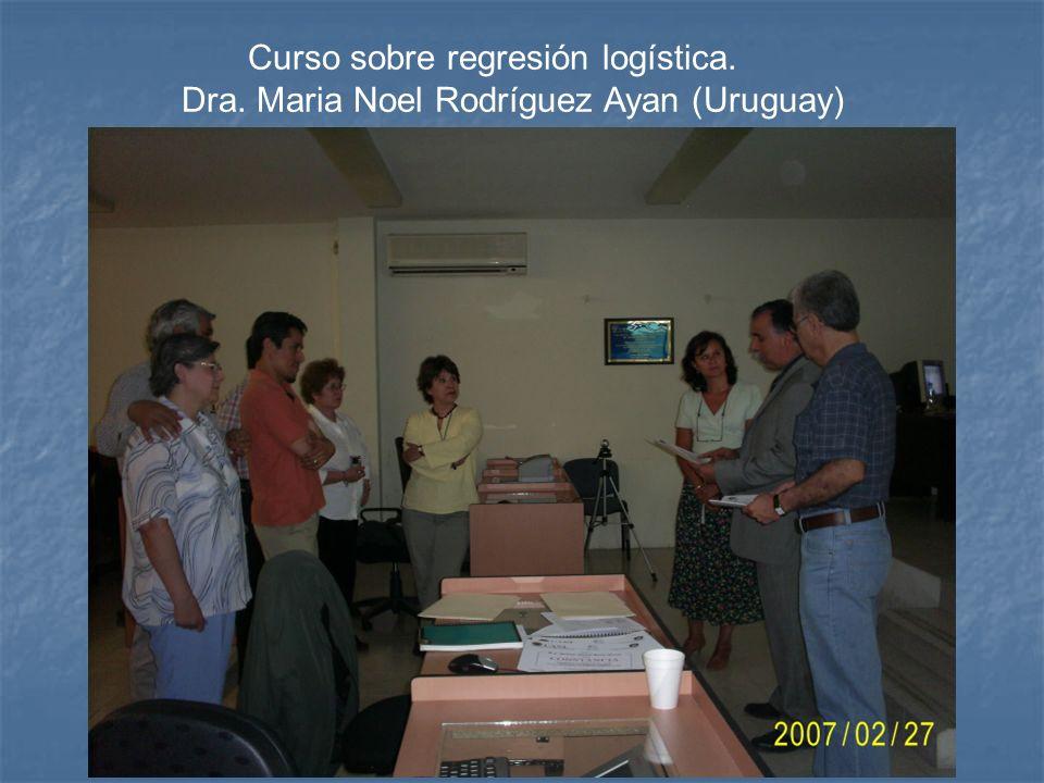 Curso sobre regresión logística.