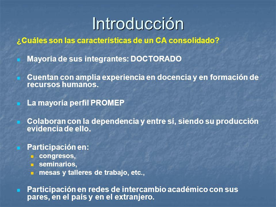 Introducción ¿Cuáles son las características de un CA consolidado