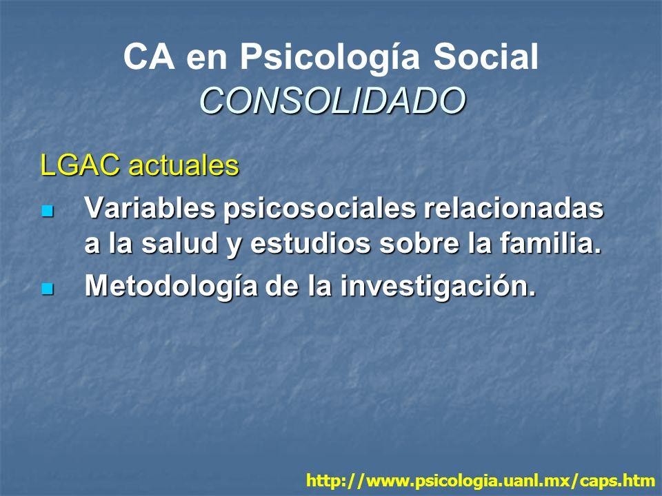 CA en Psicología Social CONSOLIDADO