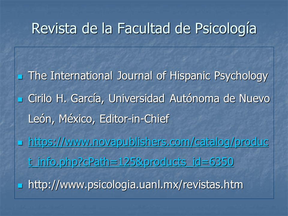 Revista de la Facultad de Psicología