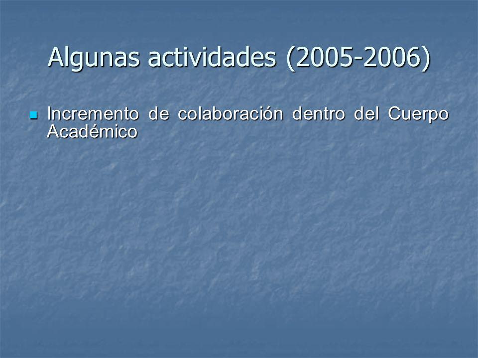 Algunas actividades (2005-2006)