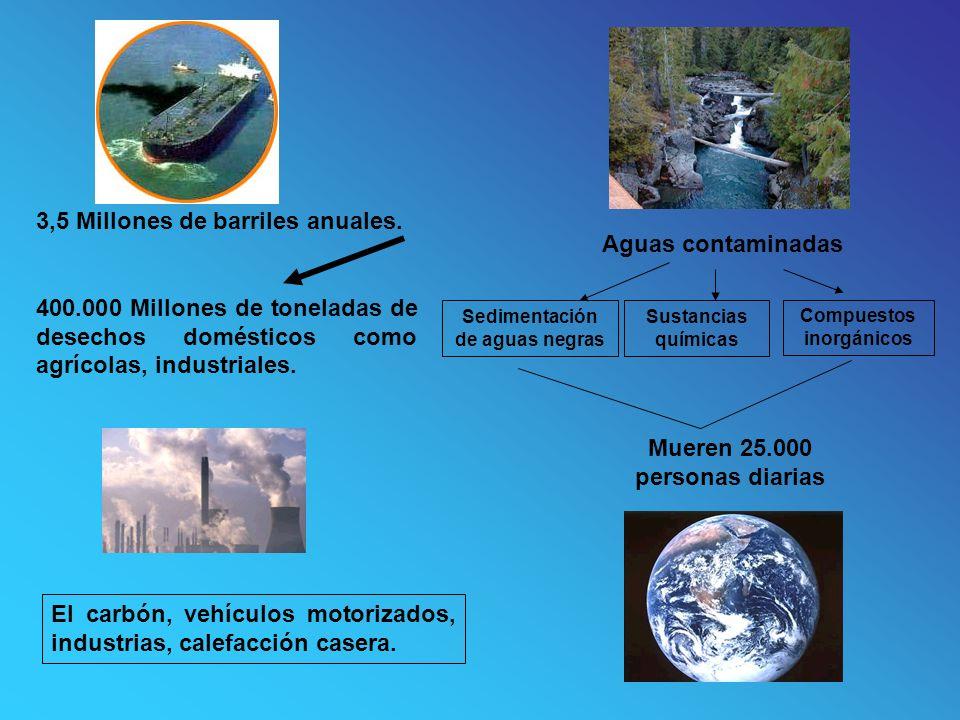 Aguas contaminadas Mueren 25.000 personas diarias