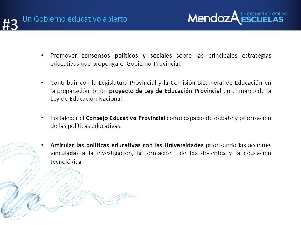 #3 Un Gobierno educativo abierto