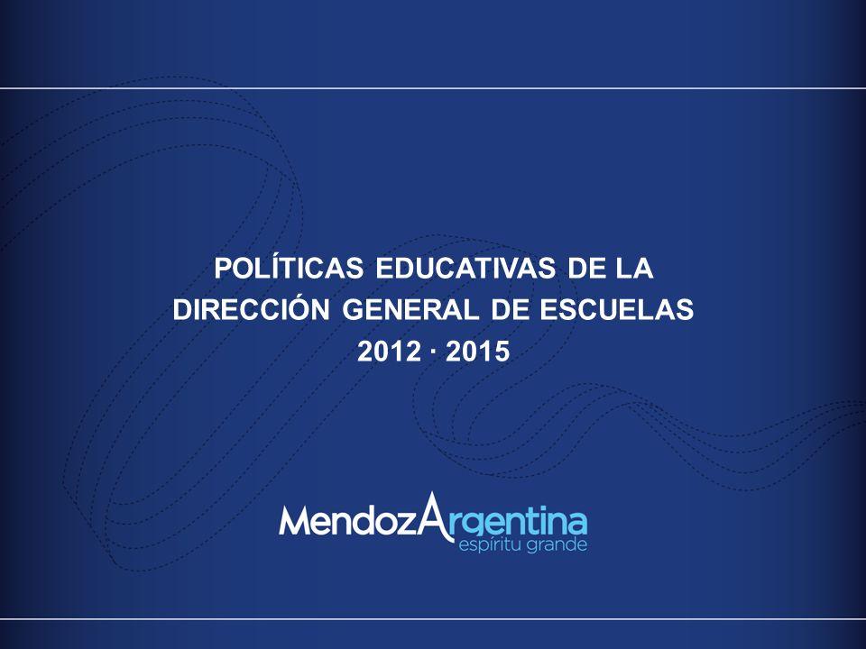 POLÍTICAS EDUCATIVAS DE LA DIRECCIÓN GENERAL DE ESCUELAS