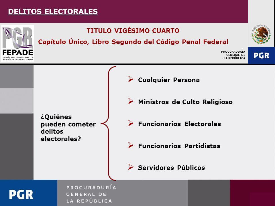 DELITOS ELECTORALES TITULO VIGÉSIMO CUARTO