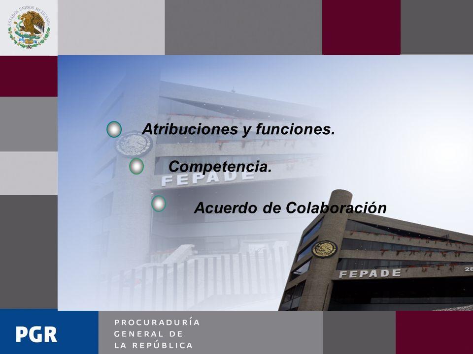 Atribuciones y funciones.