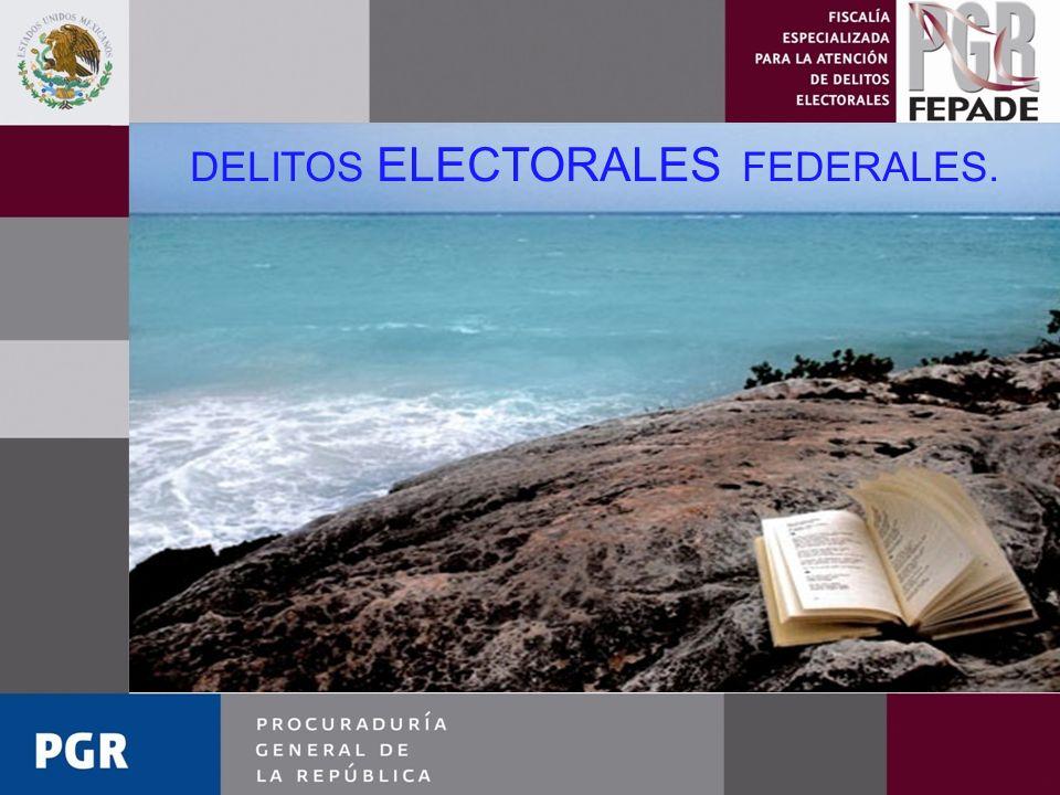 DELITOS ELECTORALES FEDERALES.