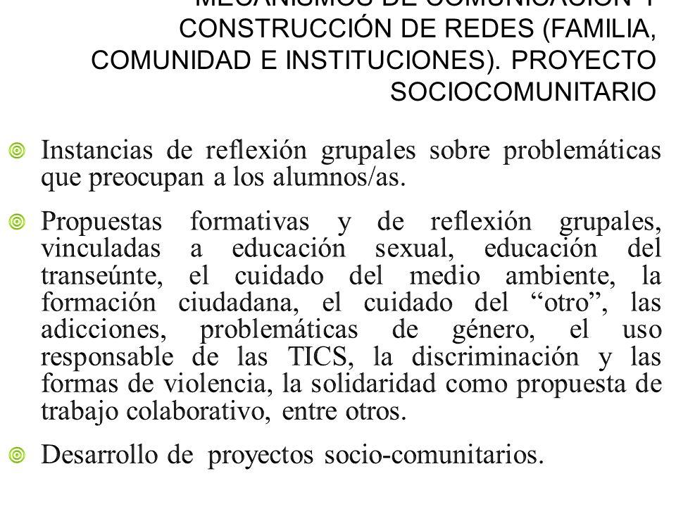 Desarrollo de proyectos socio-comunitarios.