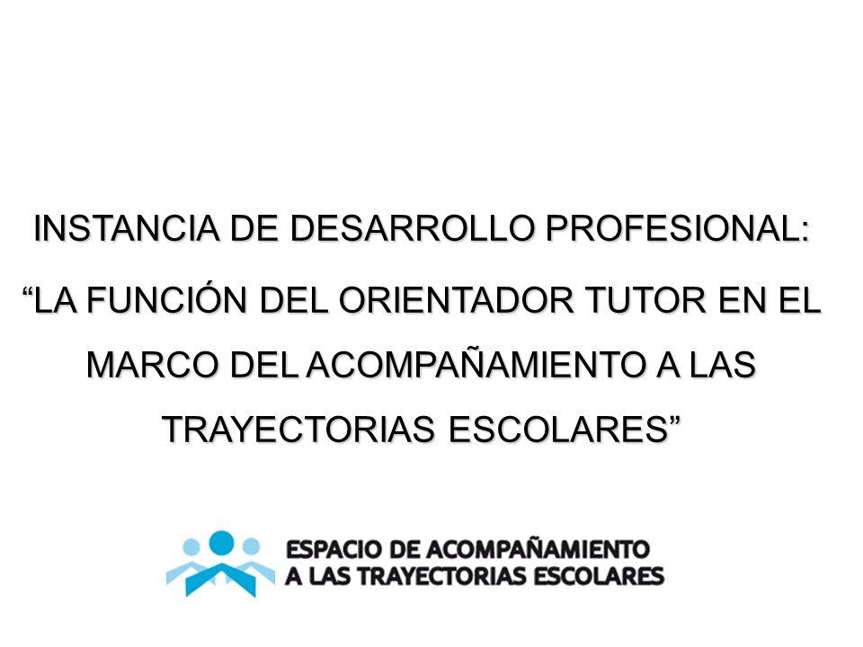 INSTANCIA DE DESARROLLO PROFESIONAL: