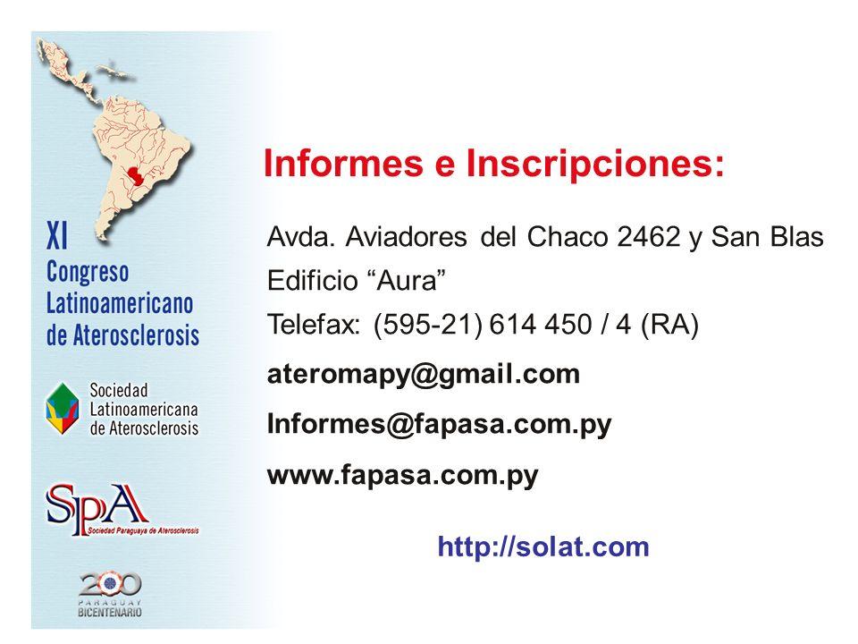 Informes e Inscripciones: