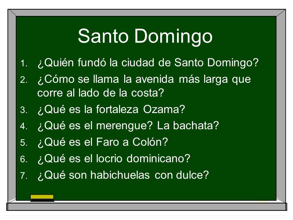 Santo Domingo ¿Quién fundó la ciudad de Santo Domingo