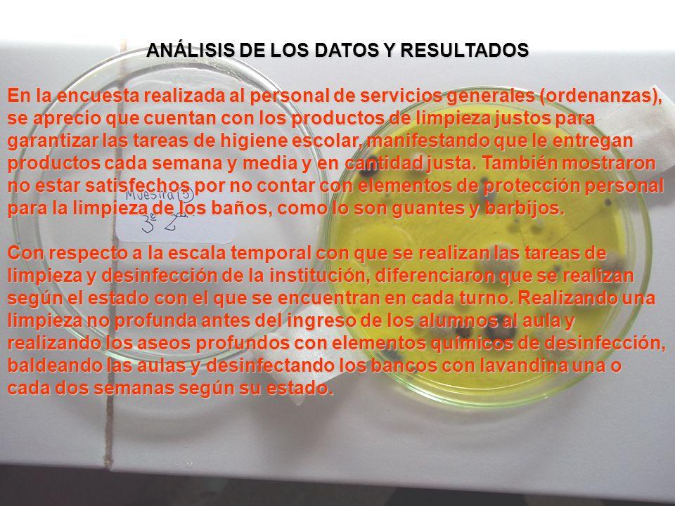 ANÁLISIS DE LOS DATOS Y RESULTADOS