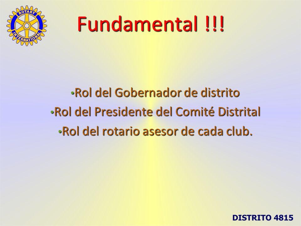 Fundamental !!! Rol del Gobernador de distrito