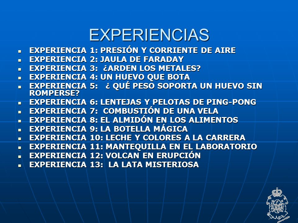 EXPERIENCIAS EXPERIENCIA 1: PRESIÓN Y CORRIENTE DE AIRE