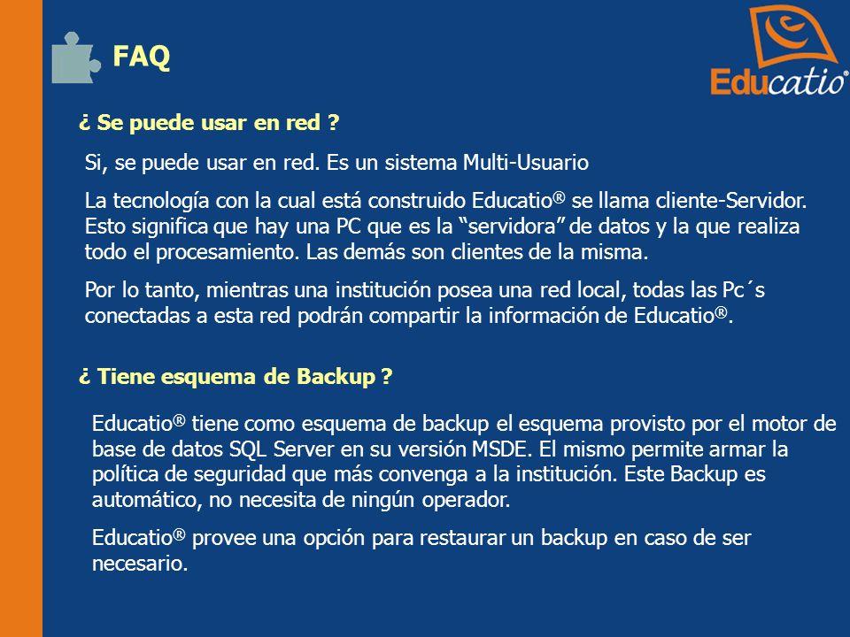 FAQ ¿ Se puede usar en red