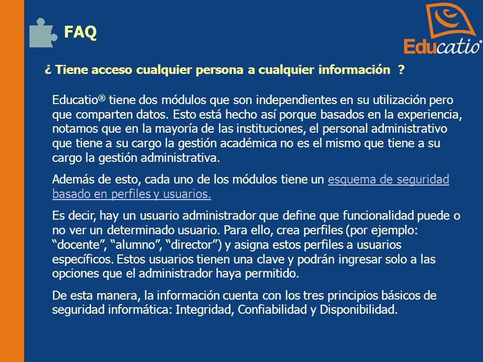 FAQ ¿ Tiene acceso cualquier persona a cualquier información
