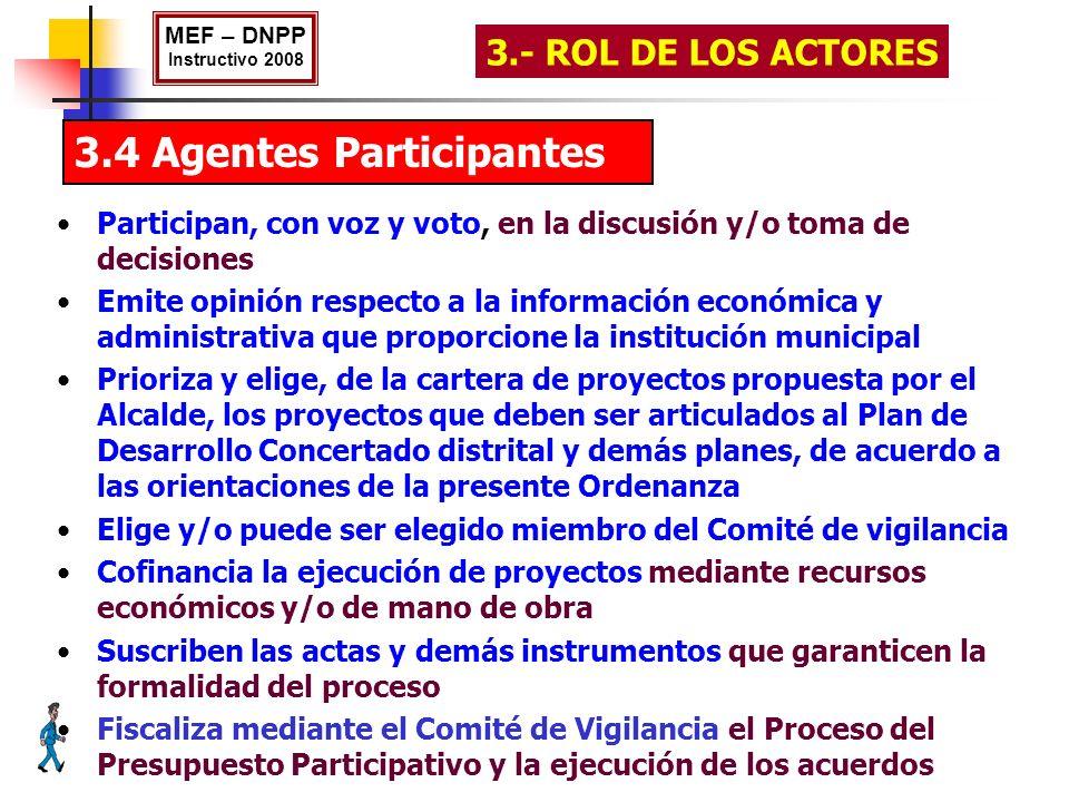 3.4 Agentes Participantes