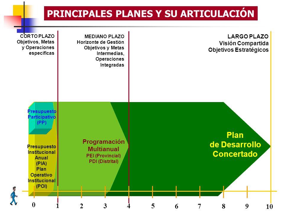 PRINCIPALES PLANES Y SU ARTICULACIÓN
