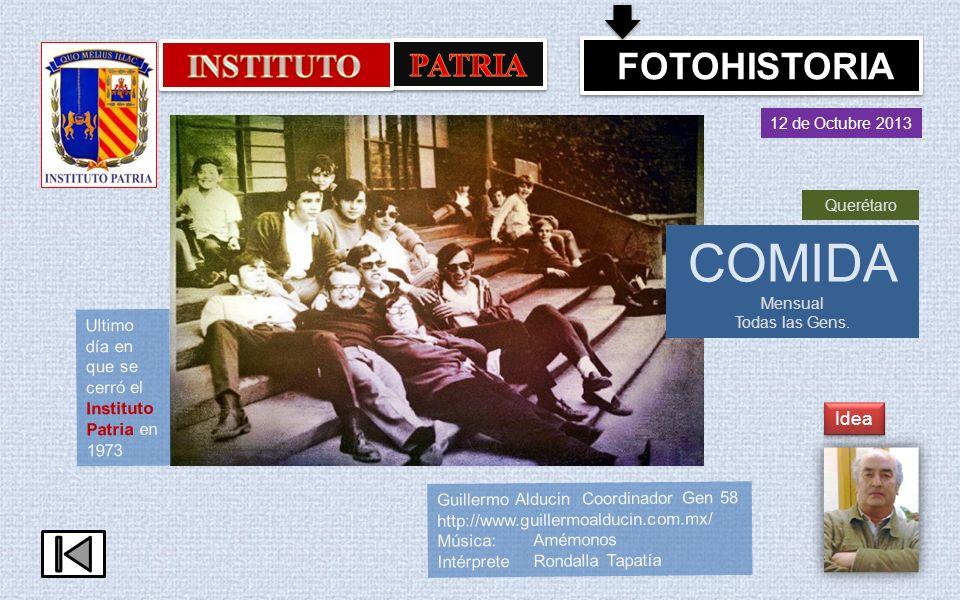 COMIDA INSTITUTO PATRIA FOTOHISTORIA Idea