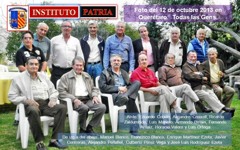 Foto del 12 de octubre 2013 en Querétaro. Todas las Gens.