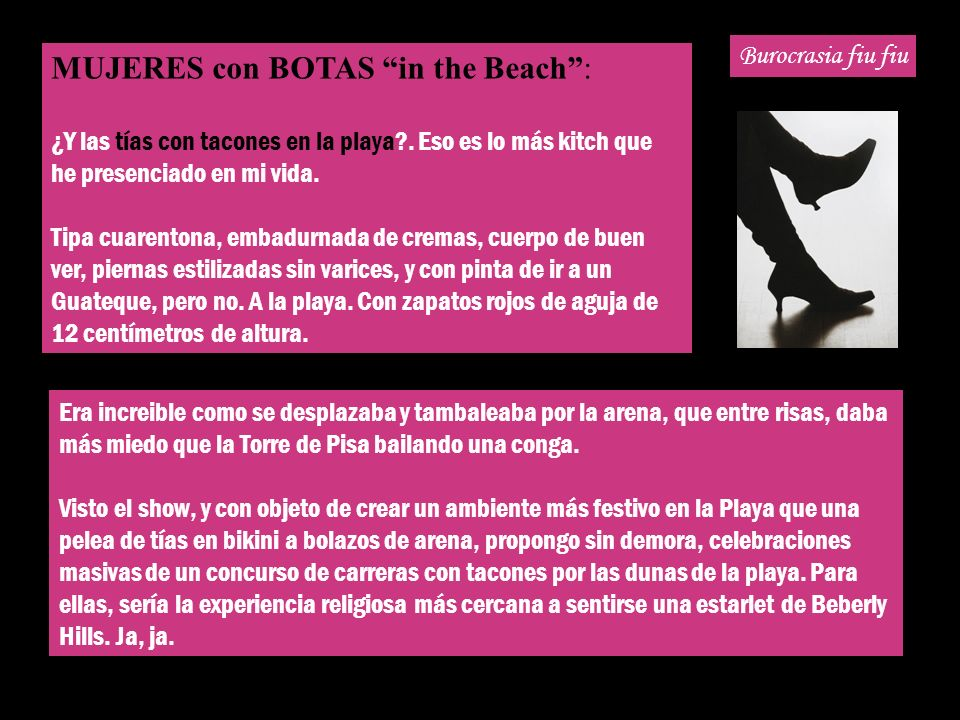 MUJERES con BOTAS in the Beach :