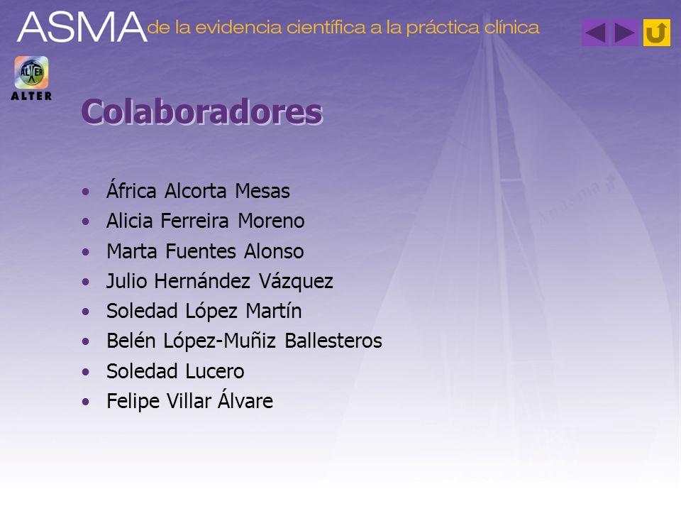 Colaboradores África Alcorta Mesas Alicia Ferreira Moreno