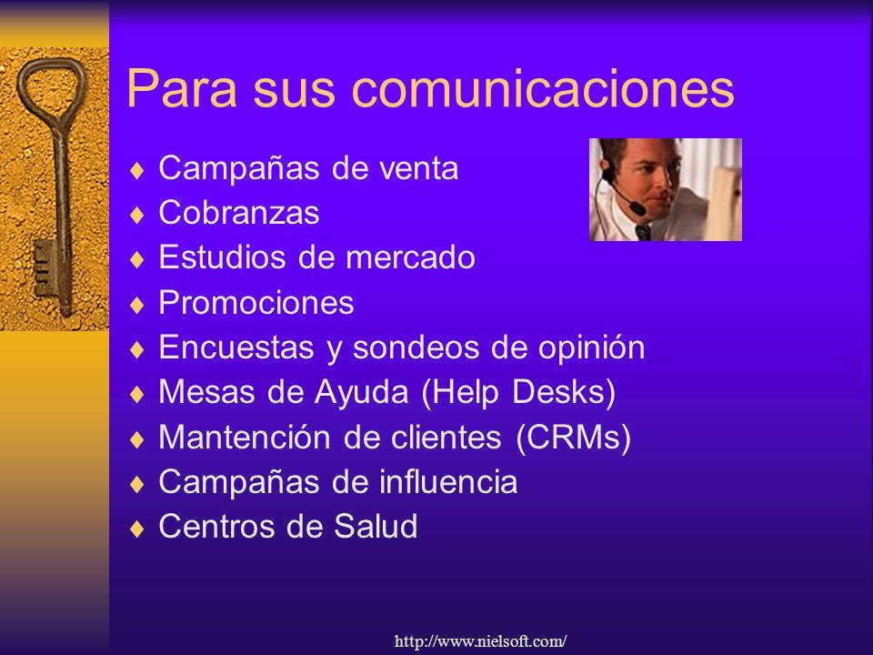 Para sus comunicaciones