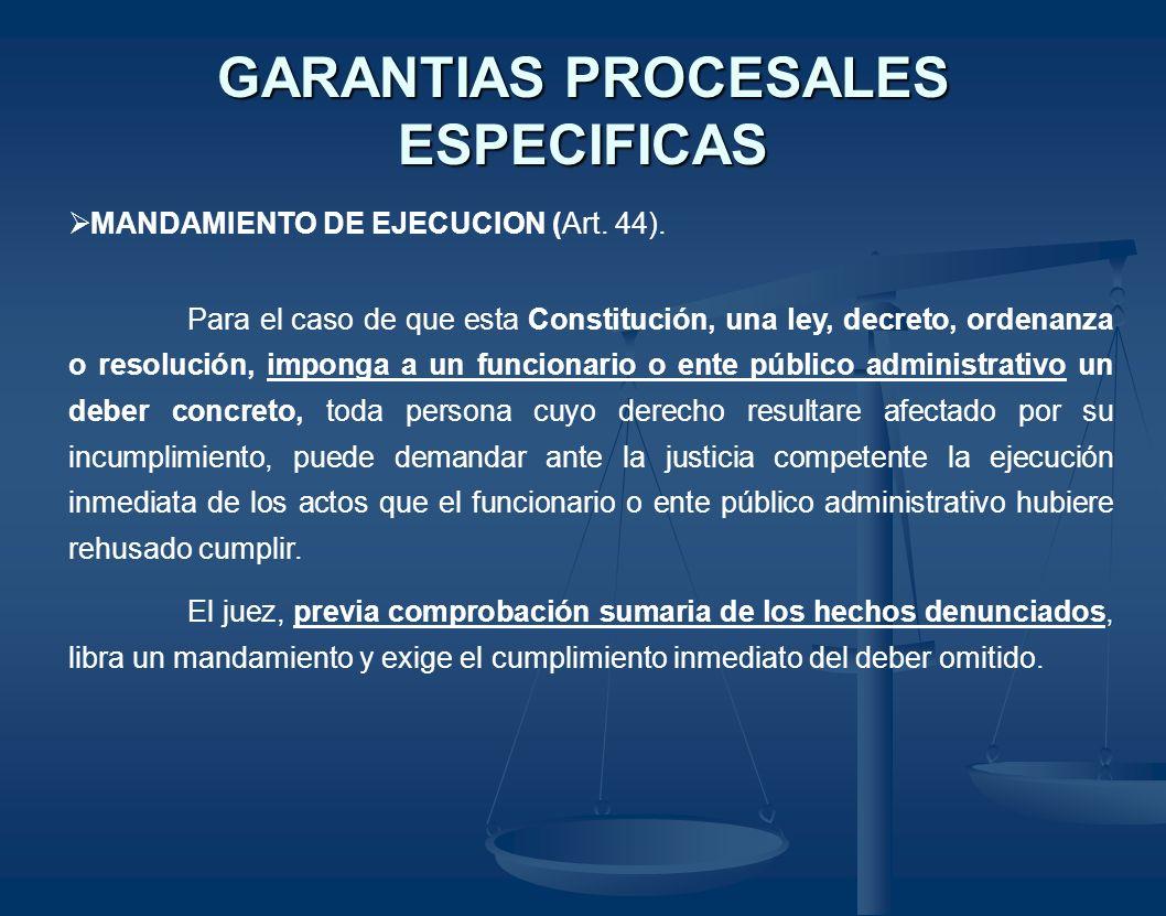 GARANTIAS PROCESALES ESPECIFICAS