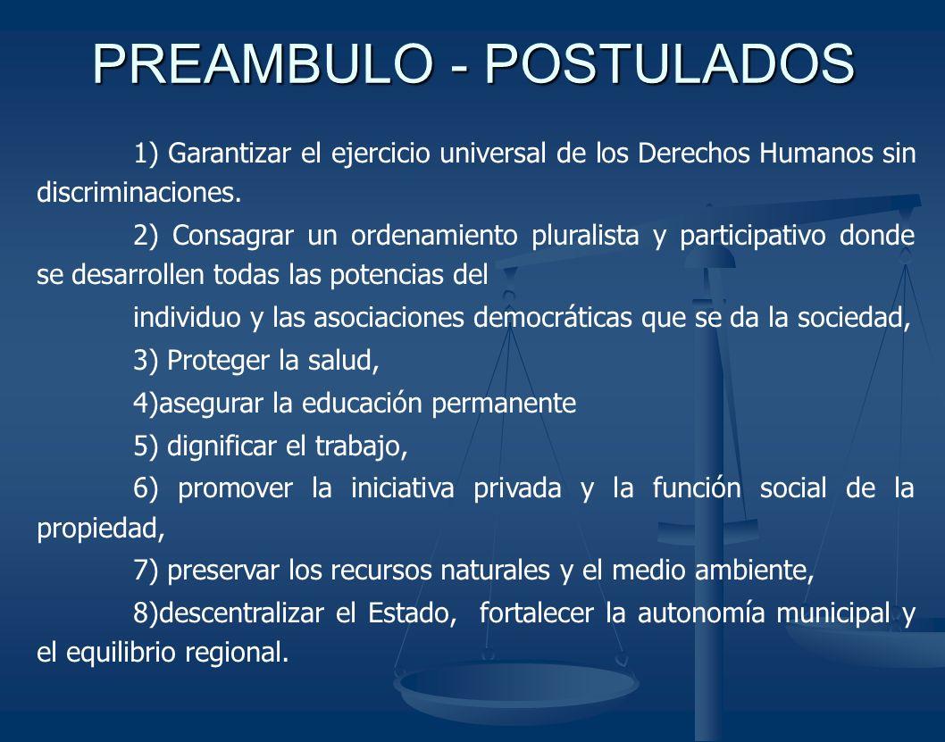 PREAMBULO - POSTULADOS