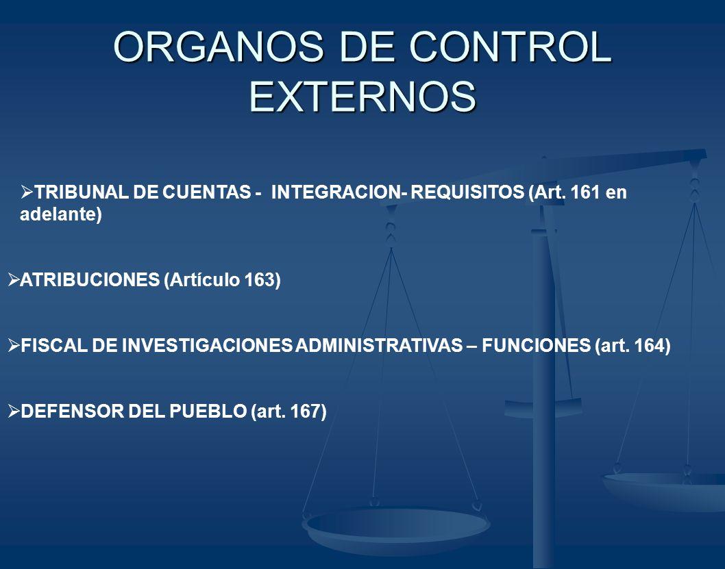 ORGANOS DE CONTROL EXTERNOS