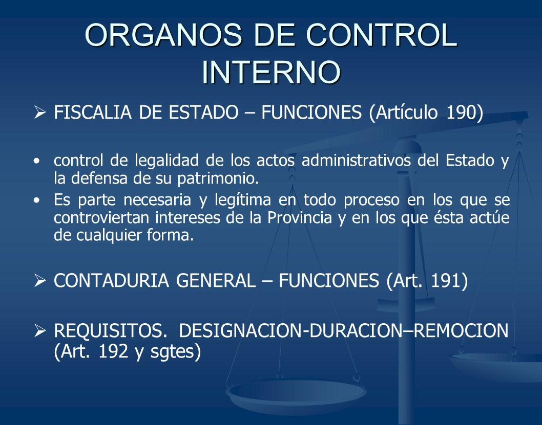 ORGANOS DE CONTROL INTERNO