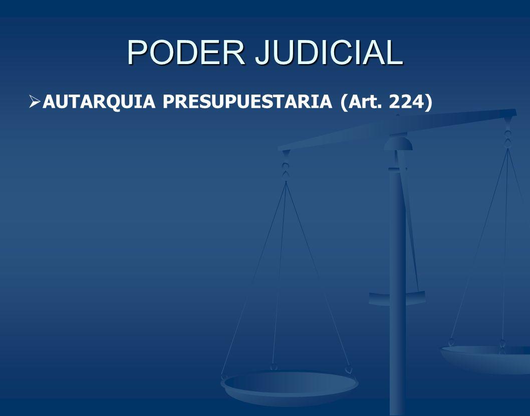PODER JUDICIAL AUTARQUIA PRESUPUESTARIA (Art. 224)
