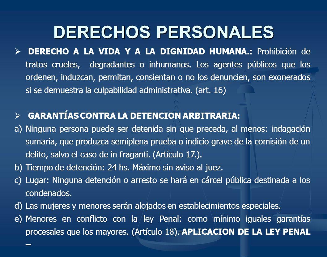DERECHOS PERSONALES
