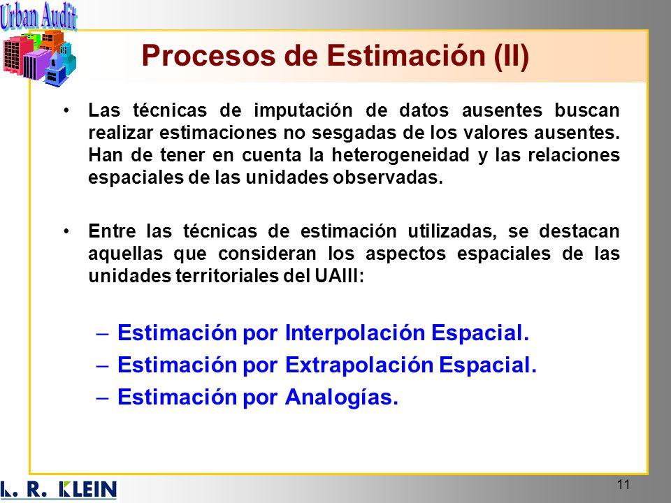Procesos de Estimación (II)