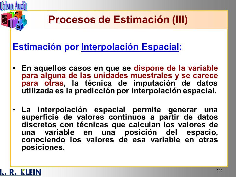 Procesos de Estimación (III)