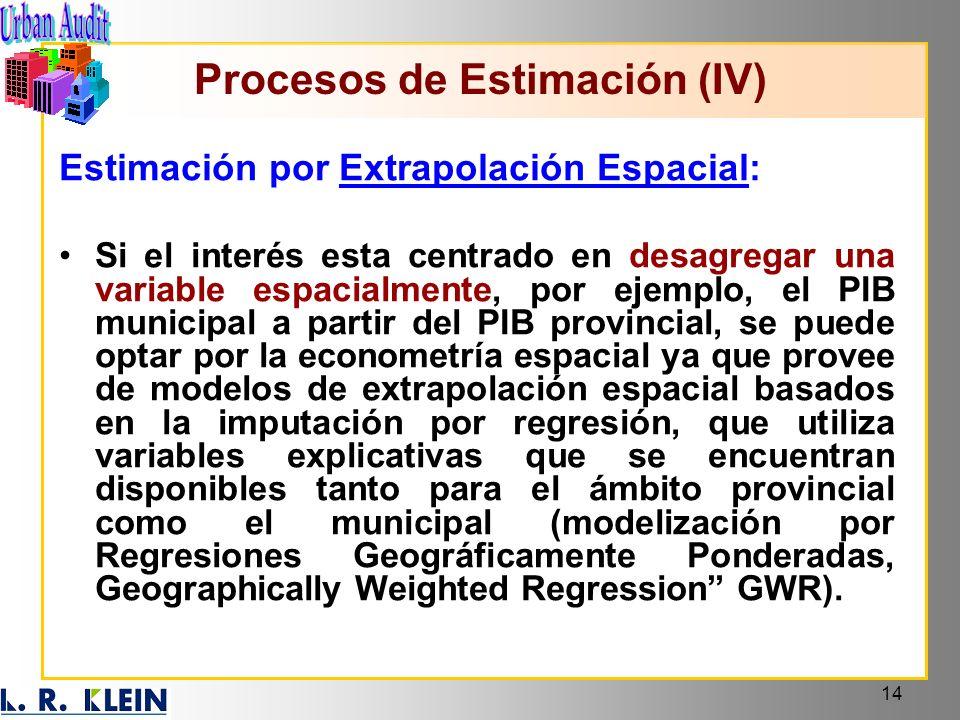 Procesos de Estimación (IV)