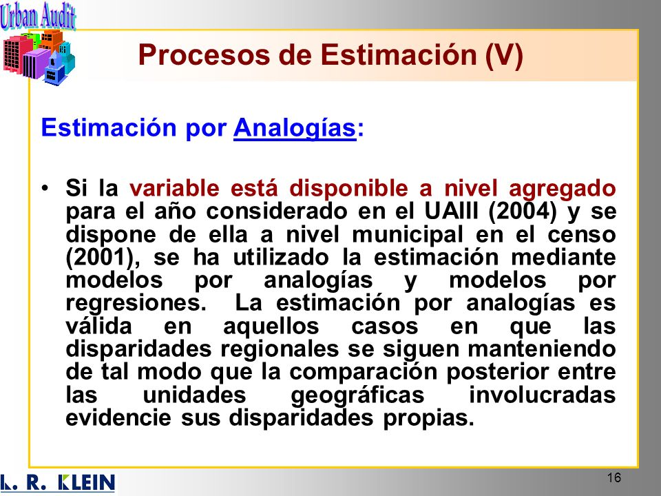 Procesos de Estimación (V)