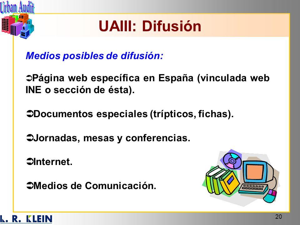 UAIII: Difusión Medios posibles de difusión: