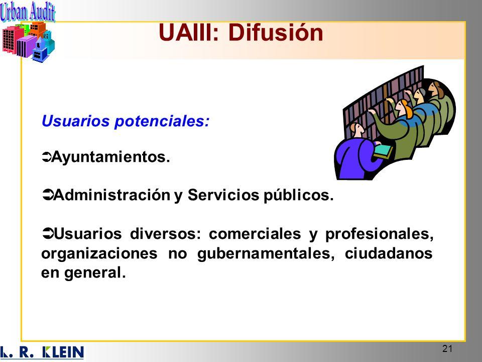 UAIII: Difusión Usuarios potenciales: