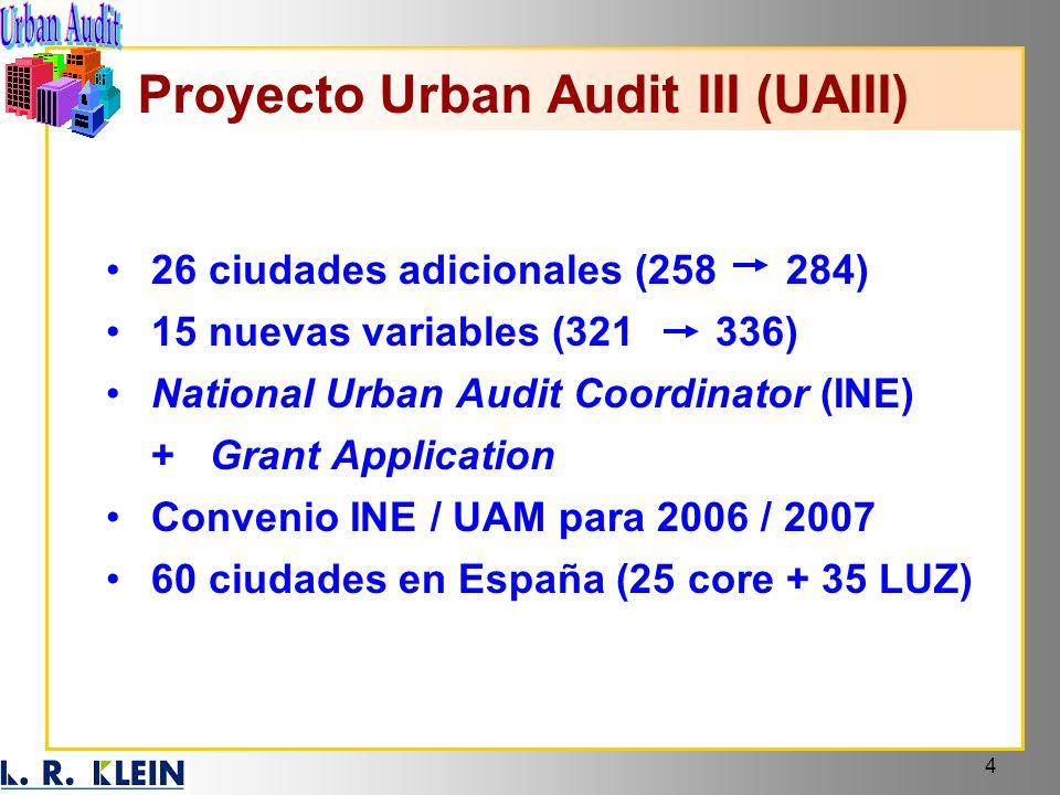 Proyecto Urban Audit III (UAIII)