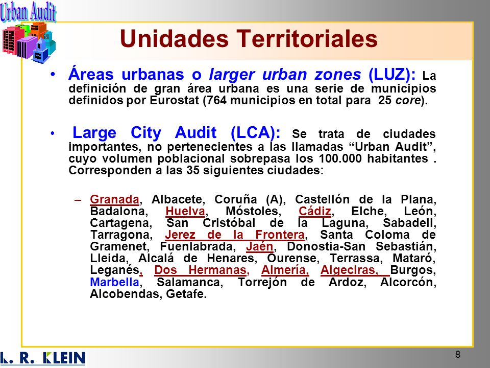 Unidades Territoriales