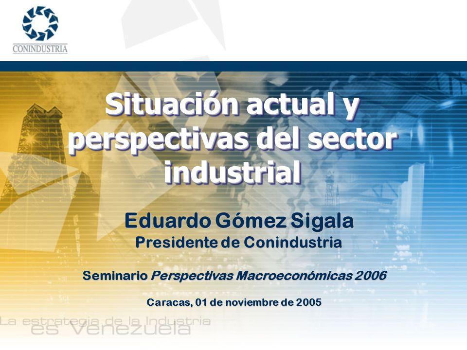 Situación actual y perspectivas del sector industrial