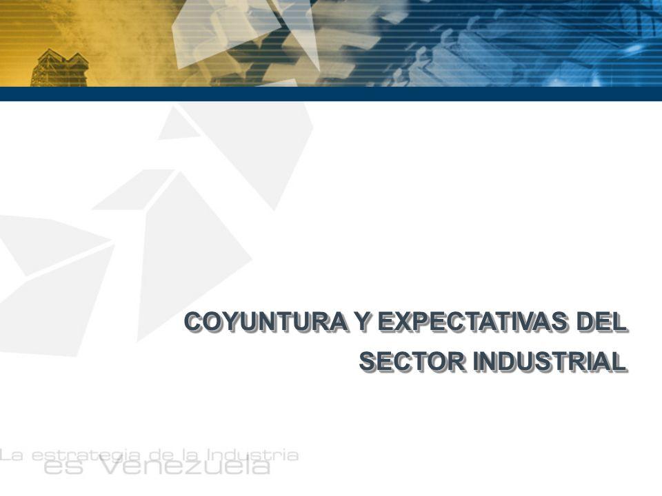 COYUNTURA Y EXPECTATIVAS DEL SECTOR INDUSTRIAL