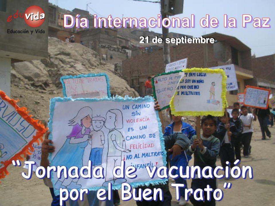 Día internacional de la Paz Jornada de vacunación
